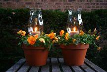 Outdoor Living / Outdoor Living, Farmhouse Style, Porch, Patio, Deck, Outdoor Furniture, Outdoor Decor, Entertaining, Hospitality, Outdoor table, Picnic table, String Lights, Lanterns, Outdoor Kitchen, DIY
