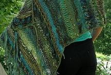 Strikket tørklæder og sjaler