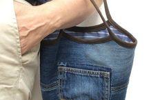 Jeanstasche aus alter Jeans nähen
