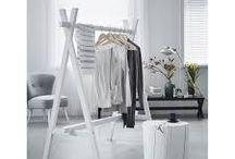 Houten kleding rek