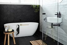 Heavenly Bathrooms / Scandi inspired bathrooms. Trending bathrooms.