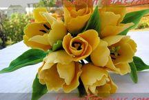Fleurs / Modelage de fleurs