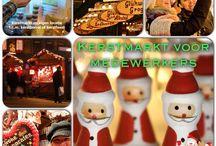 Kerstmarkt voor medewerkers / Organiseer een kerstmarkt voor uw eigen medewerkers en laat hen zelf het kerstpakket bij elkaar shoppen.