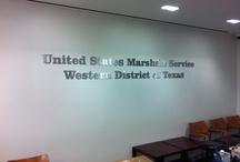 US Marshall Service Signage