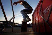 Longboard Street Shots / Longboarder in Action.