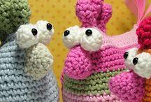 hračky, dekorace pro děti - háčkované a pletené
