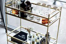 Bar cart & cabinet ideas