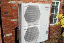 Air Source Heat Pump / For hot water and / or space heating. About 4 times more efficient than using straight electricity. So lower electricity bills. And Lower carbon emissions Good for energy efficient, environmentally friendly, sustainable living.