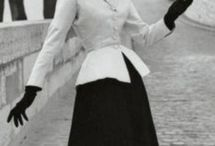 "The New Look (1950's) / Christian Dior's post war ""New Look"" fashion design movement."