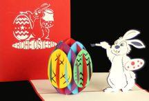 Pop Up Karten zu Ostern - Filigrane Ostergrüße als 3D Karten / Unsere neuen Pop Up 3D Karten zum Osterfest jetzt auch im Shop unter www.colognecards.de  #popupkarte #ostern# osterei #osterkarte #osterhase