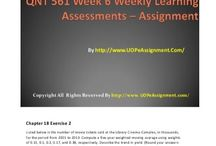QNT 561 Week 6 UopeAssignments / QNT 561 Week 6 Weekly Learning Assessments – Learning has never been so simple before. Achieve the highest grades in class with our learned professors available 24x7.