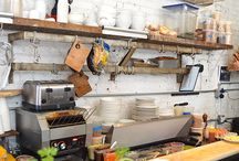 Butcher Shop Shelves / Think needs to be low profile as shops are small.