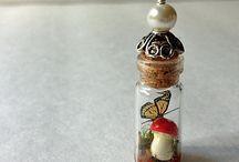 gombás pillangós nyaklánc