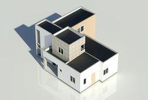 Casa Mediterránea 2 pisos / Proyecto Vivienda particular  El Olivar 138 m2  - Metalcon, Hormigón, Piedra