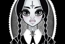Art Canvases, Prints and Posters / Goth Nugoth Psychobilly Horror Art
