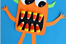Pre-school candy corn monsters