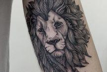Татуировка в виде льва