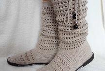 calçados em crochê