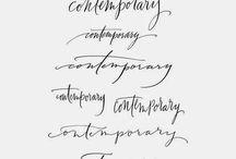 caligrafías