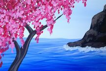 Painting Gallery / This gallery features all the beautiful art you can create at Paint & Sip Studio New York! Follow the link to view the class calendar: http://bit.ly/1eRuJet