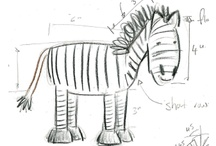 donkey/zebra pattern development / Ideas to help me design a donkey toy knitting pattern. / by browneyedbabs (pinterest)