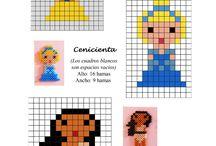 Pixel crochet, plaids