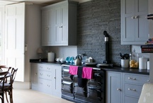 Grey, white, pink and blue: home colours