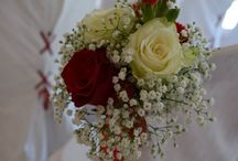 Mariage en rouge et blanc / Mariage en couleur rouge et blanc