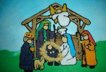 Nativity Scene Cake