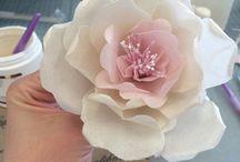 kwiaty papier jadalny