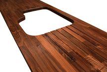 Black American Walnut Worktops / Black American Walnut: a strikingly luxurious timber.
