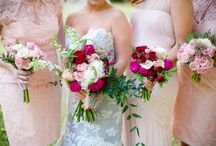 bridesmaids style options for flowers / Not sure how to decide how your bridesmaids should look? what's your style?  Do you like strong contrast with the dresses? Do you like the colours blended?  Do you like the bridesmaids to have the same bouquet, but smaller or contrast with your bouquet colours?  Lots of options... Just heart what appeals to you and you will soon see a pattern of what you like best.