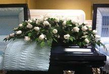 Silk Flower Casket Covers / Beautiful silk flower casket sprays are available at http://www.thecasketstore.com