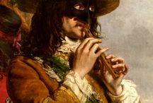 joueur flûte à bec 1859...