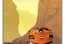 train / travel poster