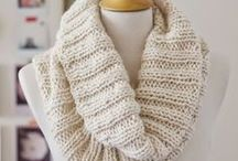 Cosy knit scarf