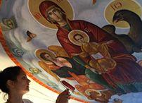 Murals in church