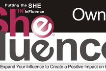 SheFluence / 'SheFluence' Represents the Power & strength gained by the willingness to share our combined knowledge in the hope of empowering others to stand and succeed on their own. Teaching business women to
