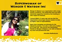 Superwoman - 8th March, 2016 / Wenger & Watson is proud of its SuperWomen! Here's what they have to say!