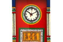 Warli Handpainted & Dhokra Work Clock