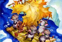 Pea's adventures / Children's Book Illustrations