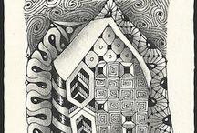 Zentangle houses