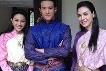 Thai costume Thai Siam Dress Thai traditional