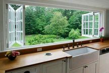 Transitional Living Spaces / Bringing the outside in, transitional living spaces aim to break down the barrier between nature and home. Windows, doors, and shutters can all be used in transitional design.