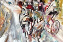 Bicycle Paintings by Gianluca Dal Bianco / 2015 bike paintings
