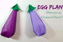 origami gyümölcsök zöldségek
