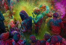 Proj. Holi e Arco-iris / Toda a inspiração de cores e dos temas que usei no projeto final