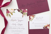 Invitations and other paper stuff for weeding