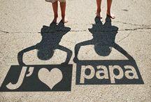 Fête des pères heureuse