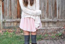 Girly feminine fashion